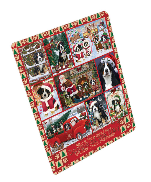 Love is Being Owned Christmas Greater Swiss Mountain Dogs Refrigerator / Dishwasher Magnet RMAG107910