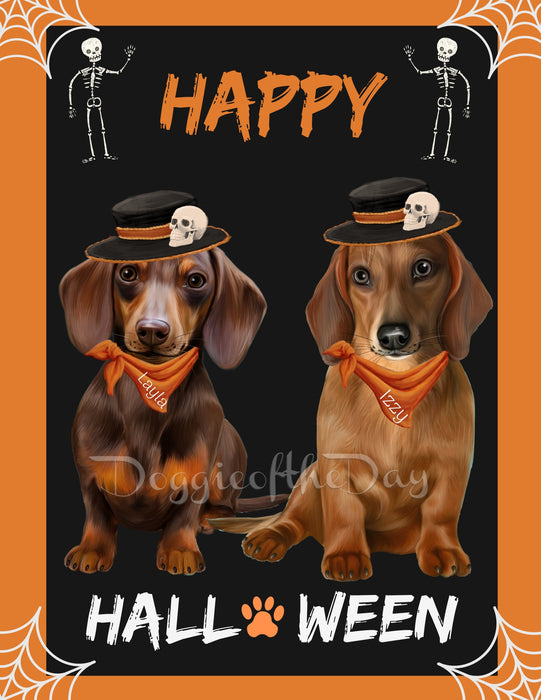 Custom Digital Painting Art Photo Personalized Dog Cat in Happy Halloween Background