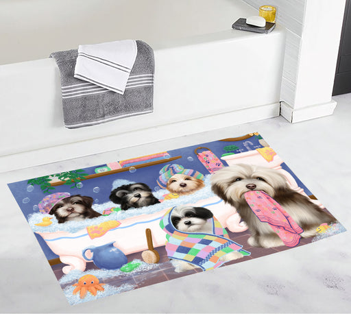 Rub A Dub Dogs In A Tub Havanese Dogs Bath Mat