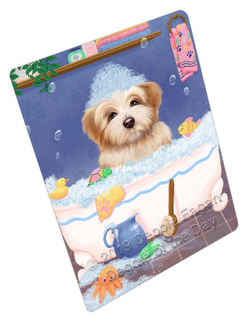 Rub A Dub Dog In A Tub Havanese Dog Refrigerator / Dishwasher Magnet RMAG109260