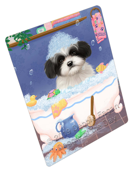 Rub A Dub Dog In A Tub Havanese Dog Refrigerator / Dishwasher Magnet RMAG109266