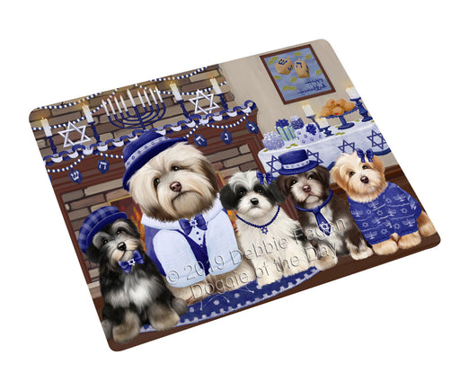 "Happy Hanukkah Family and Happy Hanukkah Both Havanese Dogs Magnet MAG77674 (Mini 3.5"" x 2"")"