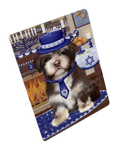 "Happy Hanukkah Family and Happy Hanukkah Both Havanese Dog Magnet MAG77506 (Mini 3.5"" x 2"")"