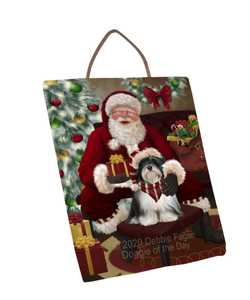 Santa's Christmas Surprise Havanese Dog Wall Décor Hanging Photo Slate SLTH58441