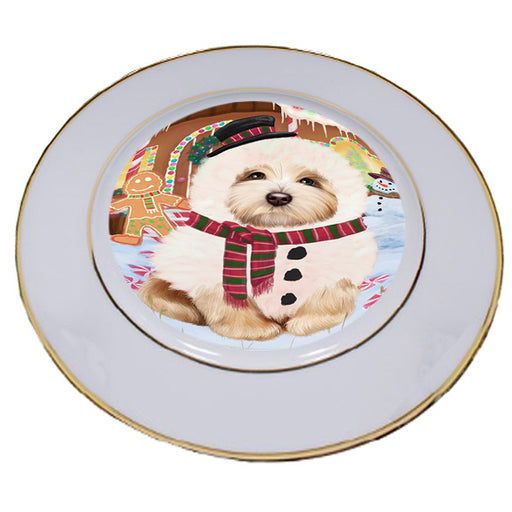 Christmas Gingerbread House Candyfest Havanese Dog Porcelain Plate PLT54710