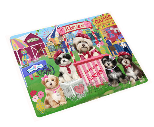 "Carnival Kissing Booth Havaneses Dog Magnet MAG72654 (Small 5.5"" x 4.25"")"