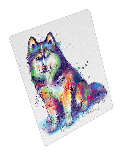 Watercolor Siberian Husky Dog Refrigerator / Dishwasher Magnet RMAG104952