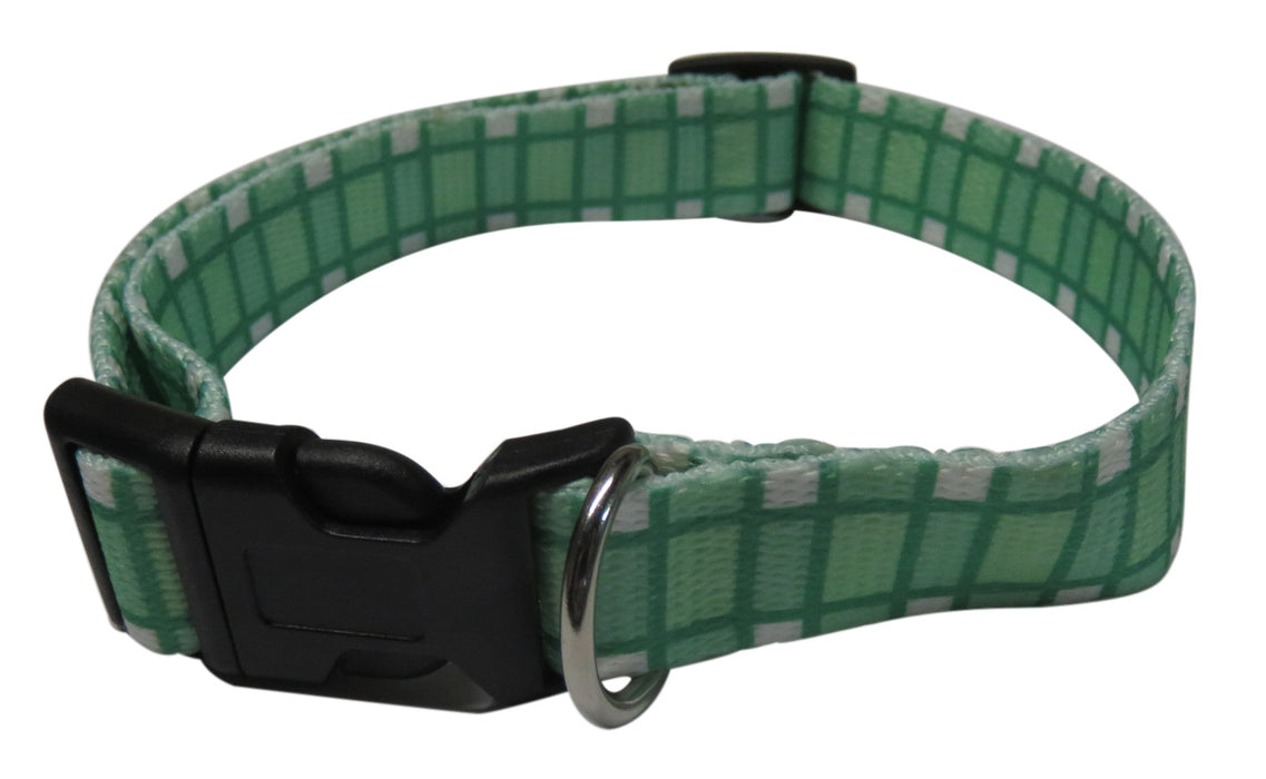 Green Dog Adjustable Nylon Collar