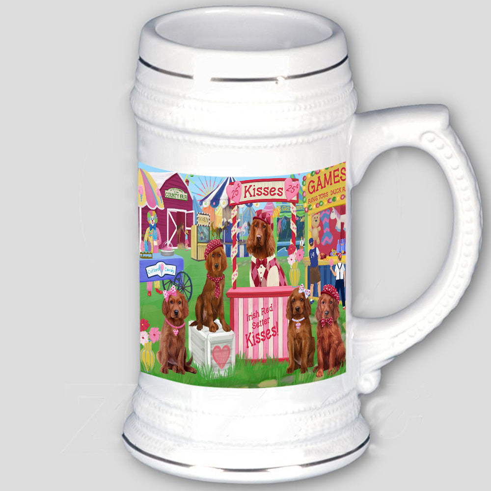 Carnival Kissing Booth Irish Red Setters Dog Beer Stein BST53775