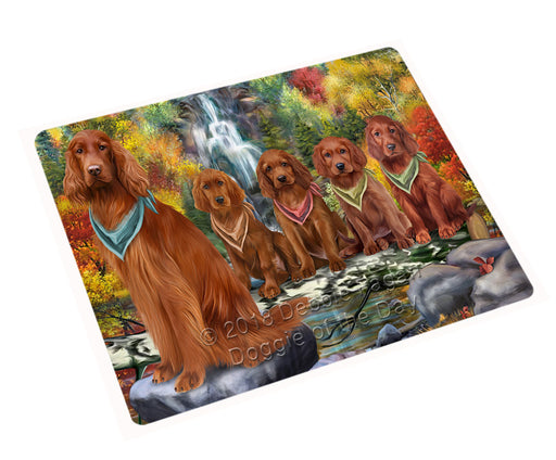 "Scenic Waterfall Irish Setters Dog Magnet Mini (3.5"" x 2"") MAG59955"