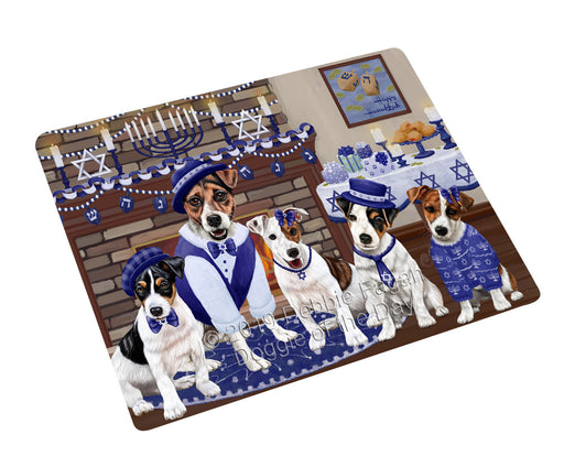 Happy Hanukkah Family and Happy Hanukkah Both Jack Russell Terrier Dogs Large Refrigerator / Dishwasher Magnet RMAG105528