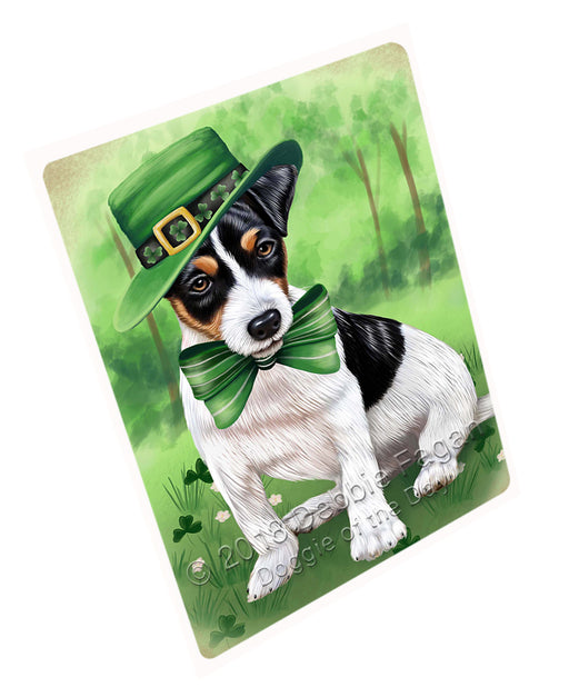 "St. Patricks Day Irish Portrait Jack Russell Terrier Dog Magnet Mini (3.5"" x 2"") MAG50334 (Mini 3.5"" x 2"")"