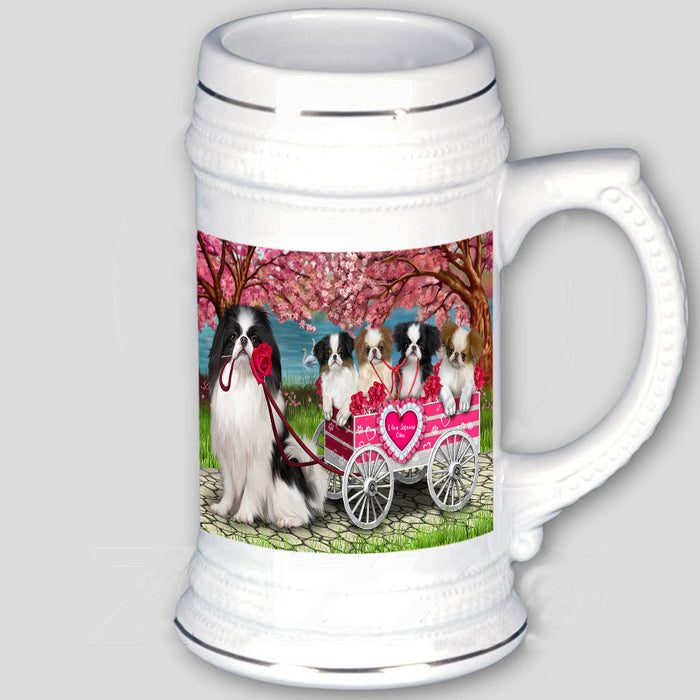 I Love Japanese Chin Dogs in a Cart Beer Stein BST57005