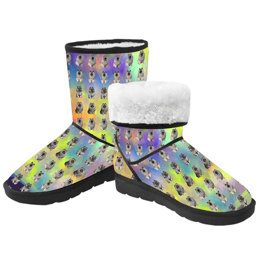 Paradise Wave Keeshond Dogs  Kid's Snow Boots