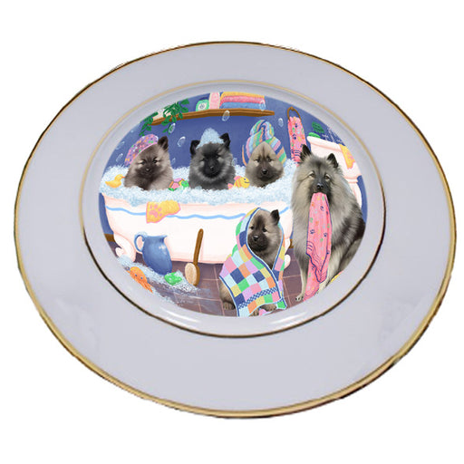 Rub A Dub Dogs In A Tub Keeshonds Dog Porcelain Plate PLT55147