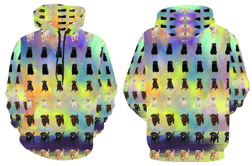 Paradise Wave Labrador Dogs All Over Print Kid's Hoodie