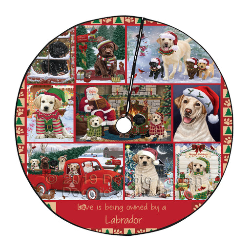 Love is Being Owned Christmas Labrador Retriever Dogs Tree Skirt