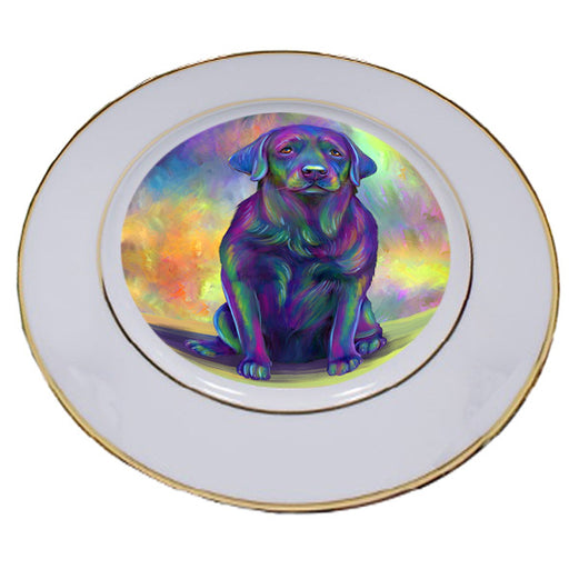 Paradise Wave Labrador Retriever Dog Porcelain Plate PLT55066
