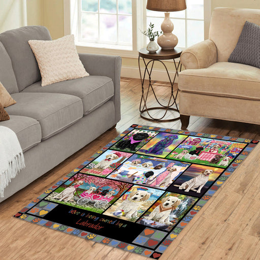 Love is Being Owned Labrador Retriever Dog Grey Area Rug