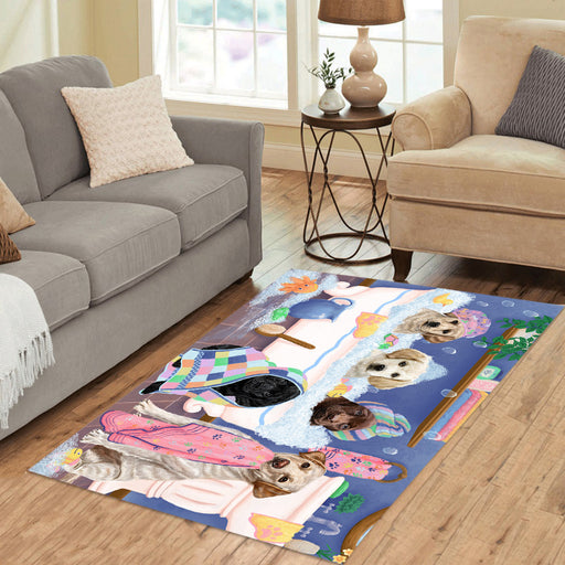 Rub A Dub Dogs In A Tub Labrador Dogs Area Rug
