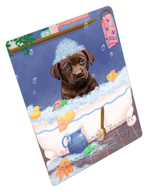 Rub A Dub Dog In A Tub Labradors Dog Refrigerator / Dishwasher Magnet RMAG109302