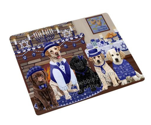 Happy Hanukkah Family and Happy Hanukkah Both Labradors Dogs Large Refrigerator / Dishwasher Magnet RMAG105540