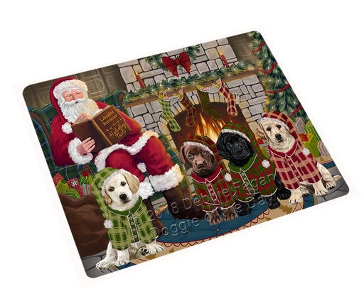 Christmas Cozy Holiday Tails Labradors Dog Cutting Board C70539