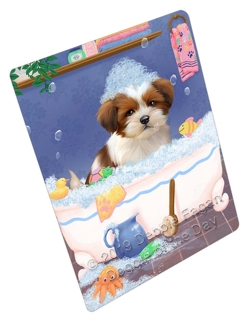 Rub A Dub Dog In A Tub Lhasa Apso Dog Refrigerator / Dishwasher Magnet RMAG109314