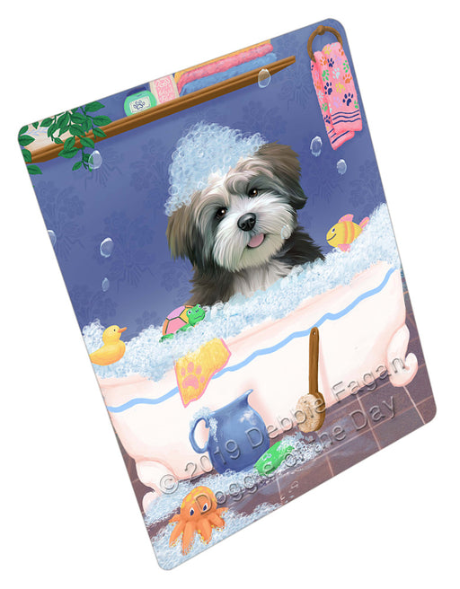 Rub A Dub Dog In A Tub Lhasa Apso Dog Refrigerator / Dishwasher Magnet RMAG109320