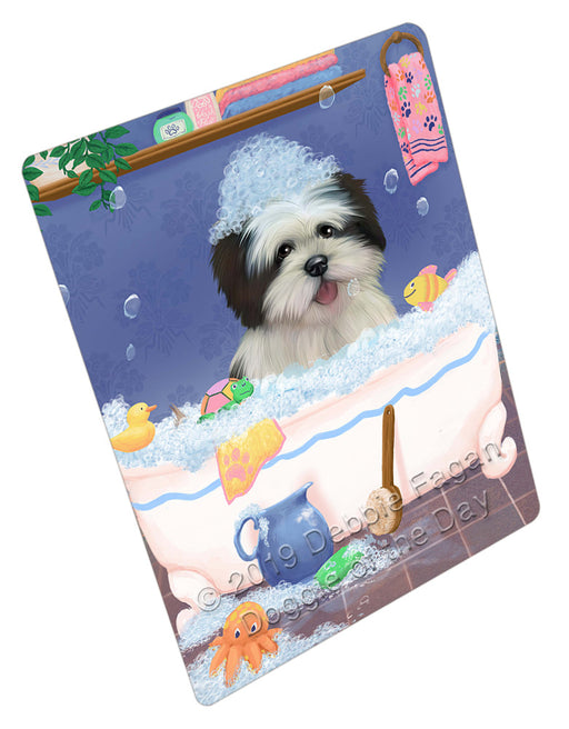 Rub A Dub Dog In A Tub Lhasa Apso Dog Refrigerator / Dishwasher Magnet RMAG109326