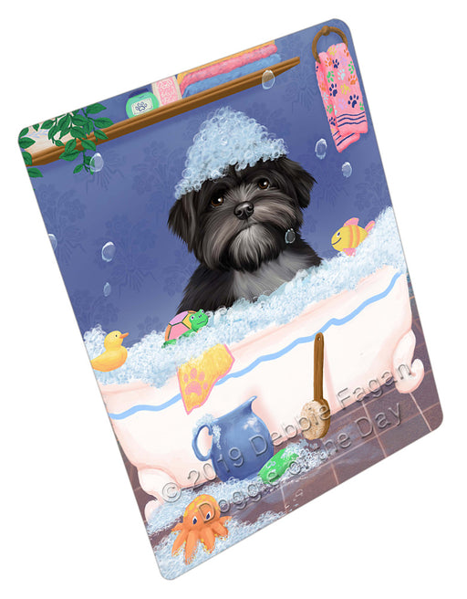Rub A Dub Dog In A Tub Lhasa Apso Dog Refrigerator / Dishwasher Magnet RMAG109332