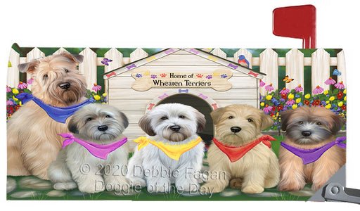 Spring Dog House Wheaten Terrier Dogs Magnetic Mailbox Cover MBC48687