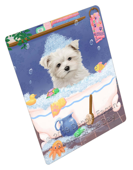 Rub A Dub Dog In A Tub Maltese Dog Refrigerator / Dishwasher Magnet RMAG109350