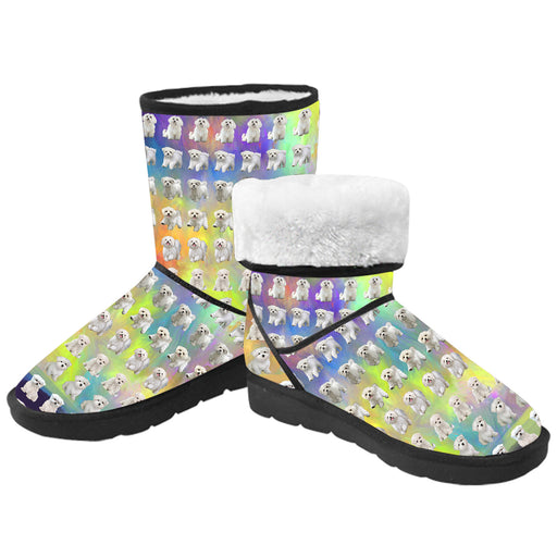 Paradise Wave Maltese Dogs  Kid's Snow Boots
