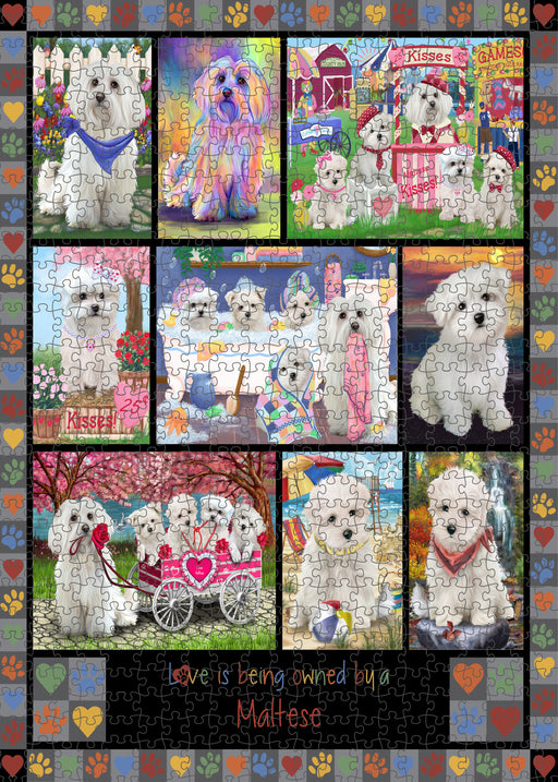 Love is Being Owned Maltese Dog Grey Puzzle with Photo Tin PUZL98520