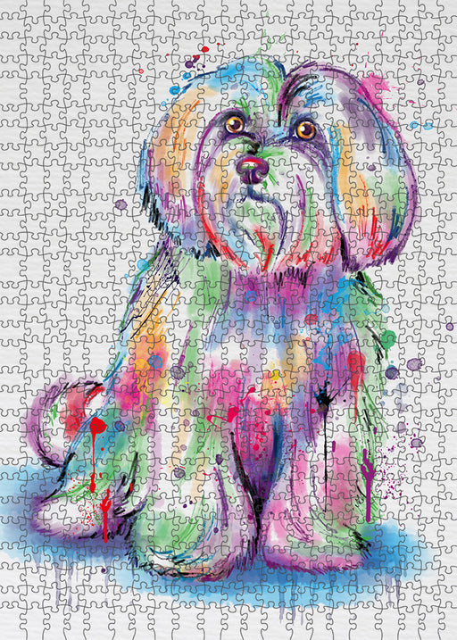 Watercolor Maltese Dog Puzzle with Photo Tin PUZL97400