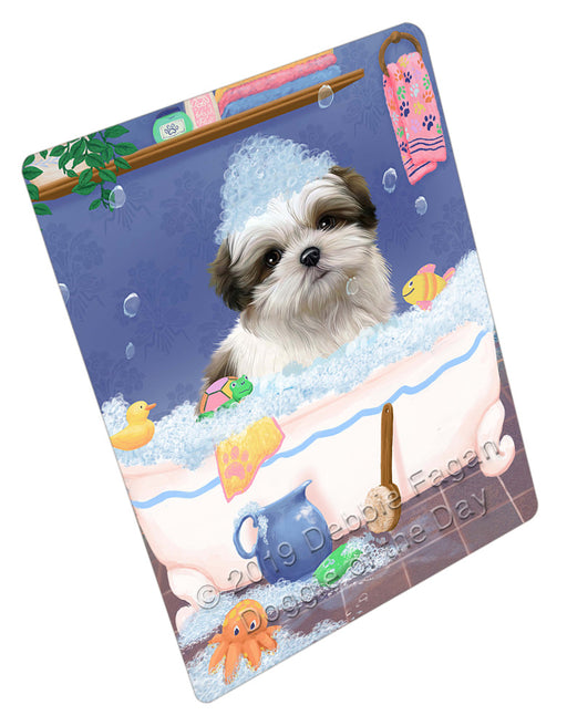 Rub A Dub Dog In A Tub Malti Tzu Dog Refrigerator / Dishwasher Magnet RMAG109356