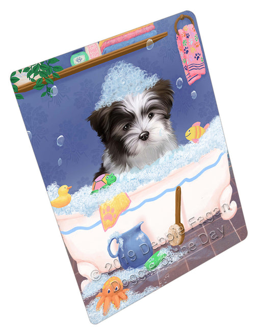 Rub A Dub Dog In A Tub Malti Tzu Dog Refrigerator / Dishwasher Magnet RMAG109362