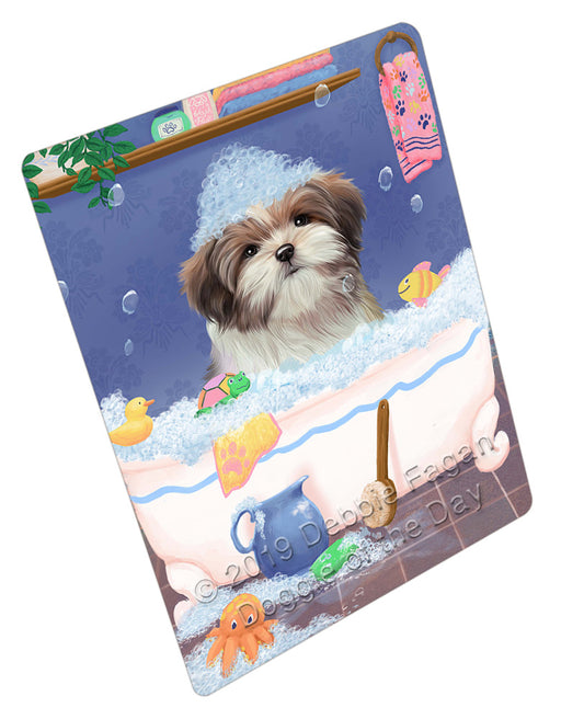 Rub A Dub Dog In A Tub Malti Tzu Dog Refrigerator / Dishwasher Magnet RMAG109368