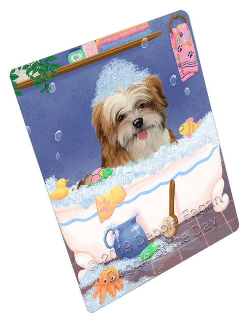 Rub A Dub Dog In A Tub Malti Tzu Dog Refrigerator / Dishwasher Magnet RMAG109374