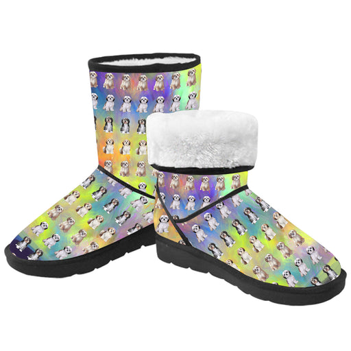 Paradise Wave Malti Tzu Dogs  Kid's Snow Boots