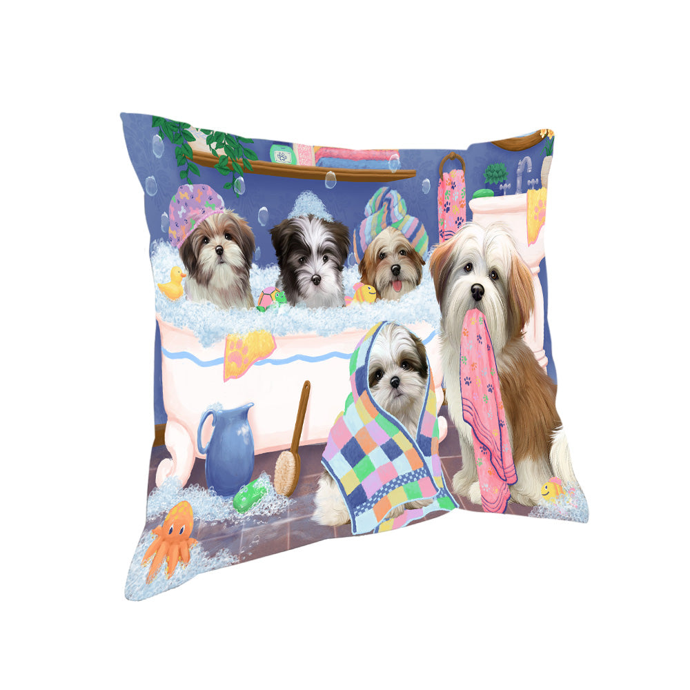 Rub A Dub Dogs In A Tub Malti Tzus Dog Pillow PIL81504