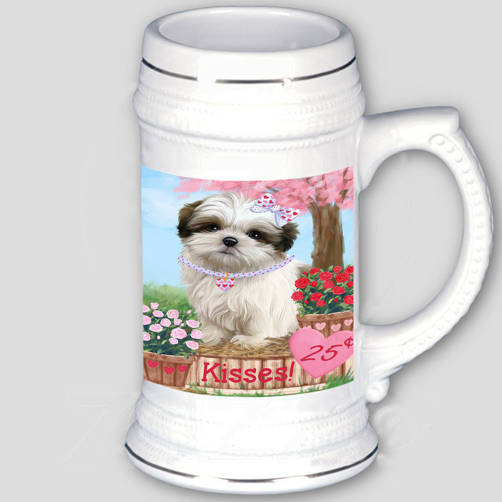 Rosie 25 Cent Kisses Malti Tzu Dog Beer Stein BST53905