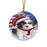 Winterland Wonderland Malti Tzu Dog In Christmas Holiday Scenic Background Round Flat Christmas Ornament RFPOR53763