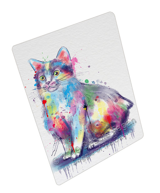 Watercolor Manx Cat Refrigerator / Dishwasher Magnet RMAG108552