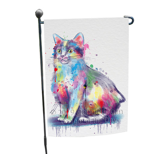 Watercolor Manx Cat Garden Flag GFLG66120