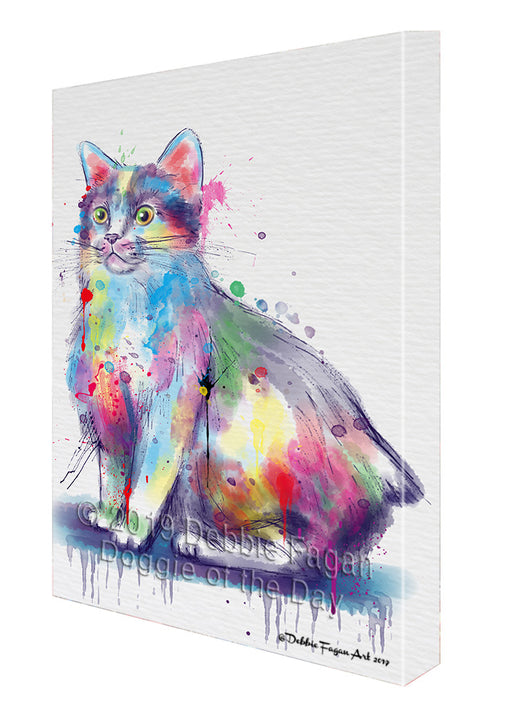 Watercolor Manx Cat Canvas Print Wall Art Décor CVS141884