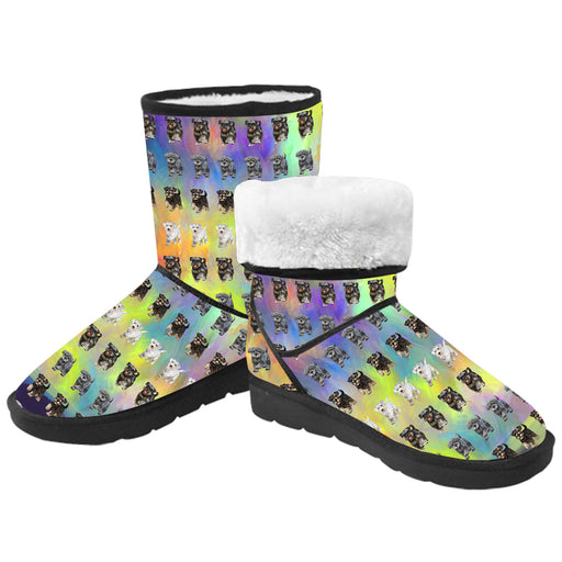 Paradise Wave Miniature Schnauzer Dogs  Kid's Snow Boots