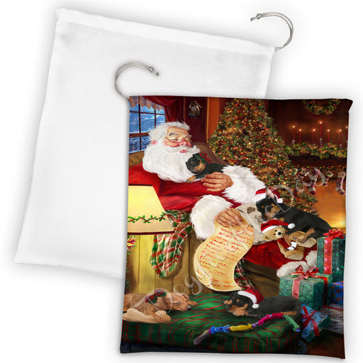 Santa Sleeping with Neapolitan Mastiff Dogs Drawstring Laundry or Gift Bag LGB48827