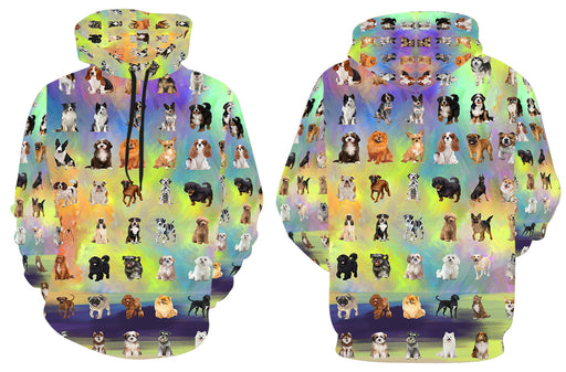 Paradise Wave Multi Breed Dogs All Over Print Kid's Hoodie